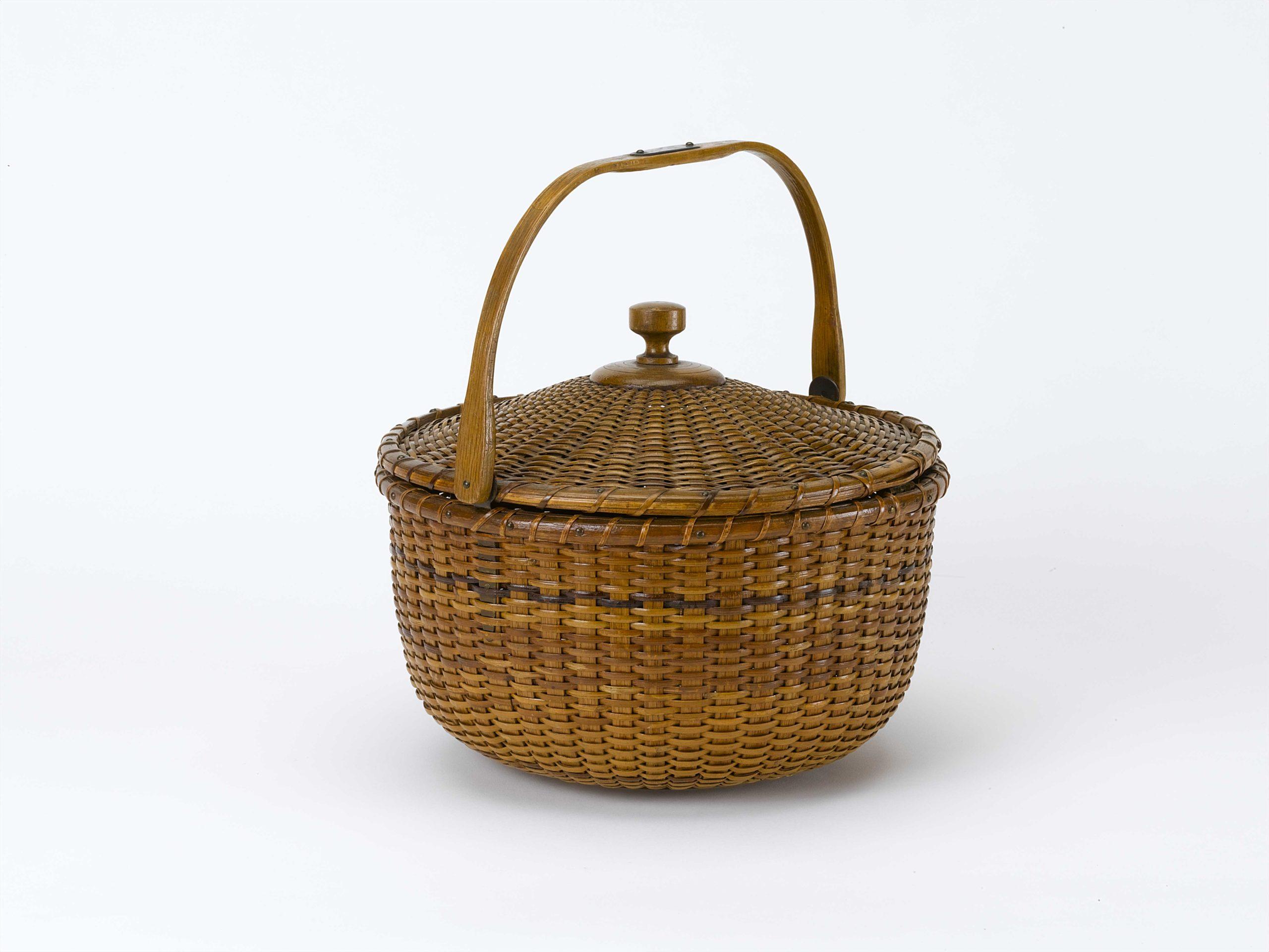 """David A. Schorsch and Eileen M. Smiles of American Antiques talk about Nantucket Lightship basket"""
